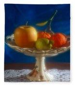 Apple Lemon And Mandarins. Valencia. Spain Fleece Blanket
