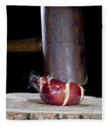 Apple Smashed With Mallet Fleece Blanket