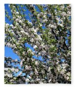 Apple Tree In Bloom Fleece Blanket