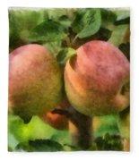 Apples Painterly Fleece Blanket