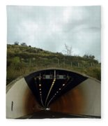 Approaching A Tunnel On A Highway In England Fleece Blanket