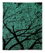 Aqua Scrub Fleece Blanket