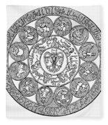 Arabic Zodiac Fleece Blanket