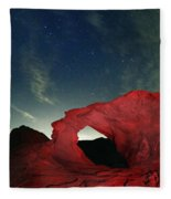 Arch And Stars Fleece Blanket