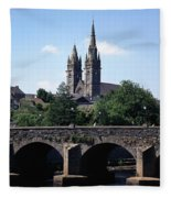 Arch Bridge Across A River With A Fleece Blanket