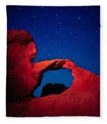 Arch In Red And Blue Fleece Blanket