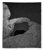 Arch In Valley Of Fire Nevada Fleece Blanket