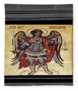 Archangel Michael Mosaic Fleece Blanket