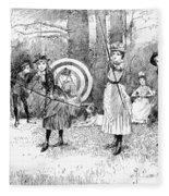 Archery, 1886 Fleece Blanket