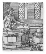 Archimedes And Hydrostatics Fleece Blanket