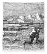 Arctic: Bear Hunting, 1871 Fleece Blanket
