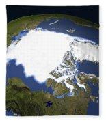 Arctic Sea Ice, 1979 Fleece Blanket