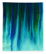 Arctic Spires Of Ice Fleece Blanket