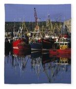 Ardglass, Co Down, Ireland Fishing Fleece Blanket