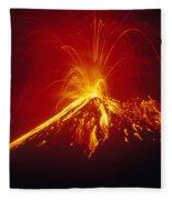 Arenal Volcano Erupting Fleece Blanket