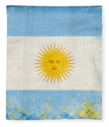 Argentina Flag Fleece Blanket