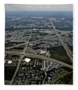 Ariel View Of Orlando Florida Fleece Blanket