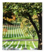 Arlington National Cemetery In The Fall  Fleece Blanket