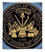 Army Medallion Fleece Blanket