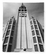 Art Deco Church Fleece Blanket
