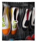 Art Shoes Fleece Blanket