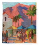 Art Under The Umbrellas Fleece Blanket