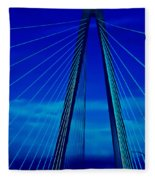 Arthur Ravenel Jr Bridge IIi Fleece Blanket