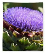 Artichoke Flower  Fleece Blanket