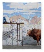 Artist At Work Fleece Blanket
