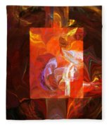 Artist World View Fleece Blanket