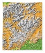 Artistic Map Of Southern Appalachia Fleece Blanket