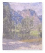 As If Monet Painted Yosemite Fleece Blanket