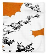 As The Crows Fly Fleece Blanket