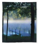 As The Lake Awakens Fleece Blanket