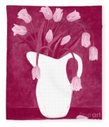 Ashes Of Roses Tulips Fleece Blanket