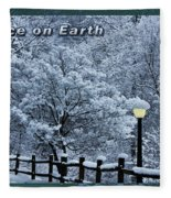 Asheville Peace Card Fleece Blanket