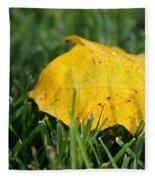 Aspen Leaf Fleece Blanket