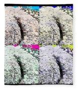 Ass Crack Rock In Quad Colors Fleece Blanket