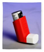 Asthma Inhaler Fleece Blanket