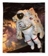 Astronaut In A Space Suit Fleece Blanket