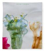 Asymetrical Flowers Fleece Blanket