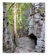 At A Cliff's Edge Fleece Blanket