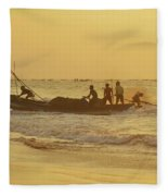 At Dawn In Puri Fleece Blanket