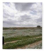 At Lachish Anemone Fields Fleece Blanket
