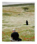 At Lachish's Magical Fields Fleece Blanket