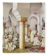 At Prayer In The Mosque Fleece Blanket