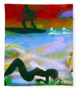 At Sea Gold Fleece Blanket