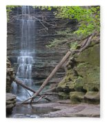 At The Falls Fleece Blanket
