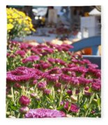At The Farm Stand Fleece Blanket