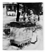 Atget: Delivering Bread Fleece Blanket